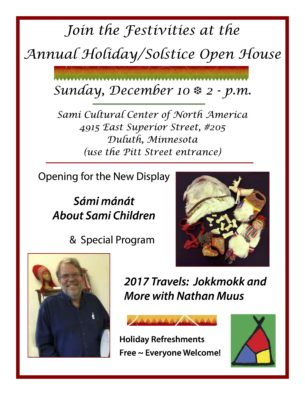 Annual Holiday/Solstice Open House @ Sami Cultural Center of North America | Duluth | Minnesota | United States