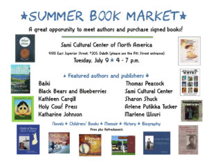 Summer Book Market @ Sami Cultural Center of North America