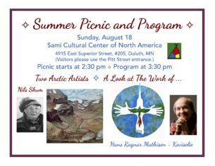 Summer Picnic and Program @ Sami Cultural Center of North America