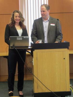 Megan Boettcher, ETL, and Matt Rosendahl, Director University of Minnesota Duluth Library
