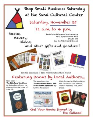 Small Business Saturday Book and Gift Sale @ Sami Cultural Center of North America | Duluth | Minnesota | United States