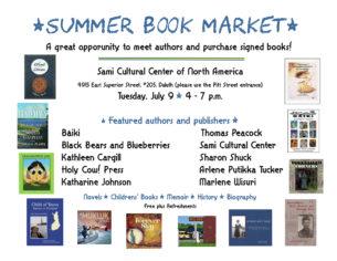 Summer Book Market @ Sami Cultural Center of North America