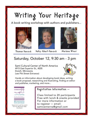 Writing Your Heritage - a writing workshop @ Sami Cultural Center of North America