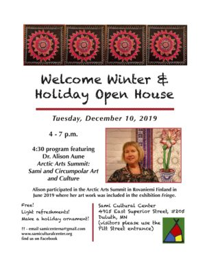 Welcome Winter & Holiday Open House @ Sami Cultural Center of North America